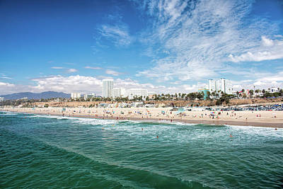 Photograph - Santa Monica Beach by Kristia Adams