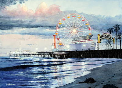 Painting - Santa Monica by Bill Hudson