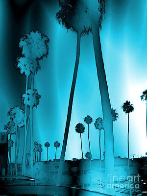 Surreal Photograph - Santa Monica Blue Palms by Abstract Angel Artist Stephen K