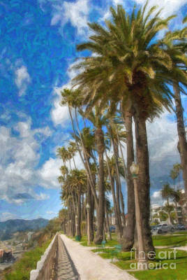 Photograph - Santa Monica Ca Palisades Park Bluffs  by David Zanzinger