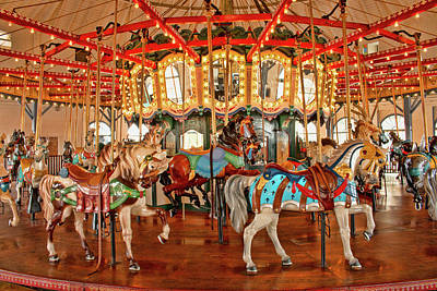 Photograph - Santa Monica Carousel by Kristia Adams