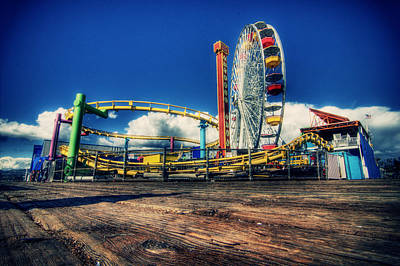 Monica Photograph - Santa Monica by Chris Multop