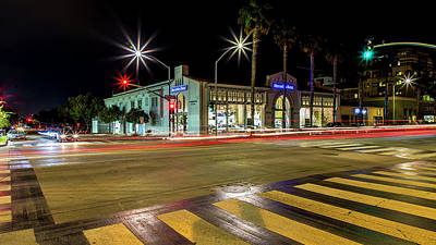 Photograph - Santa Monica City Lights by Gene Parks