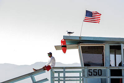 Photograph - Santa Monica Lifeguard by Jean Haynes