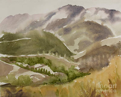Painting - Santa Monica Mountains California by Kathryn Donatelli