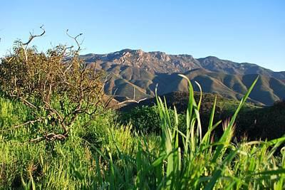 Santa Monica Mountains Green Landscape Art Print