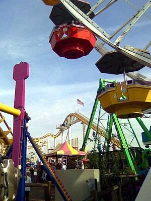 Photograph - Santa Monica Pier Amusement Park by Kenny Glover