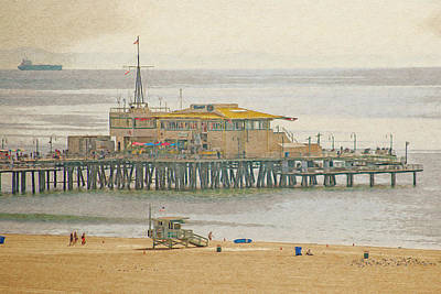 Digital Art - Santa Monica Pier by Anthony Murphy