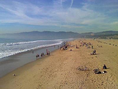 Photograph - Santa Monica Pier Beach by Kenny Glover