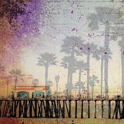 Santa Monica Mixed Media - Santa Monica Pier by Brandi Fitzgerald
