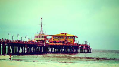 Photograph - Santa Monica Pier by Charles Benavidez