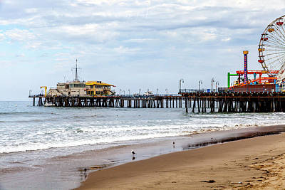 Rollercoaster Photograph - Santa Monica Pier Collection- 1/36 by Gene Parks
