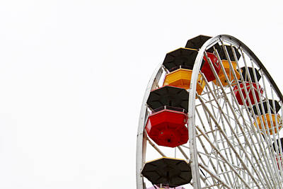 Contemporary Home Photograph - Santa Monica Pier Ferris Wheel- By Linda Woods by Linda Woods