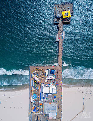 Photograph - Santa Monica Pier From Above by Andrew Mason