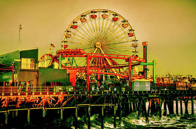 Photograph - Santa Monica Pier Pacific Park by Joseph Hollingsworth