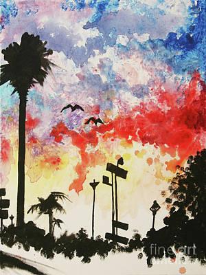Painting - Santa Monica Pier - Right Side One Of Three by Ashlynn Apffel