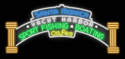 Digital Art - Santa Monica Pier Sign Digital Drawing by Ricky Barnard