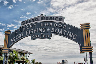 Photograph - Santa Monica Pier Sign by Kristia Adams