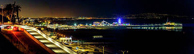 Photograph - Santa Monica Pier Sparkle - Panorama by Gene Parks