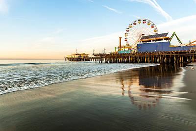 Whalen Photograph - Santa Monica Pier Sunrise by Josh Whalen