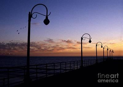 Santa Monica Pier Sunset Art Print by Chris Jurgenson