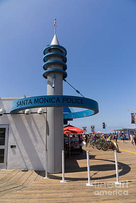 Photograph - Santa Monica Police At Santa Monica Pier In Santa Monica California Dsc3675 by Wingsdomain Art and Photography