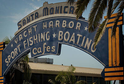 Photograph - Santa Monica Sign by Ricky Barnard