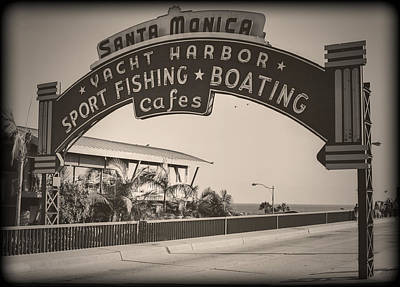 Santa Monica Sign Series Modern Vintage Art Print