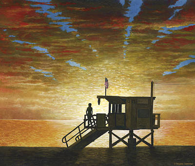 Painting - Santa Monica Sunset by Douglas Castleman