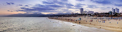 Santa Monica Sunset Panorama Art Print