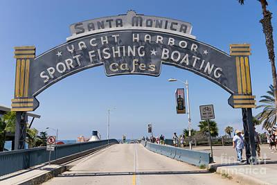 Santa Monica Yacht Harbor At Santa Monica Pier In Santa Monica California Dsc3665 Art Print by Wingsdomain Art and Photography