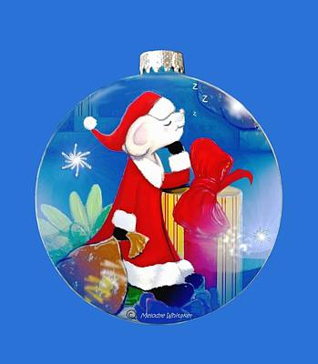 Santa Mouse Child's Shirt Art Print