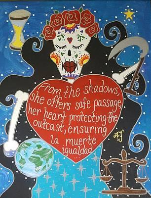 Painting - Santa Muerte by Angela Yarber