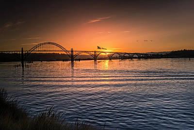 Photograph - Santa Over The Bridge by Bill Posner