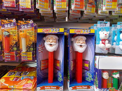 Pez Dispenser Photograph - Santa Pez by Nina Kindred