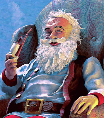 Digital Art - Santa Rests by Dave Luebbert