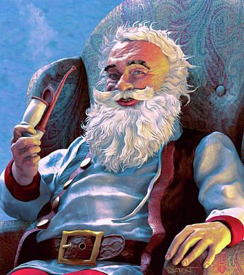 Digital Art - Santa Rests by Dave Luebbert