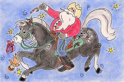 Pastel - Santa Ride by Vonda Lawson-Rosa