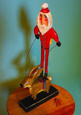 James Neill Painting - Santa Riding Reindeer by James Neill