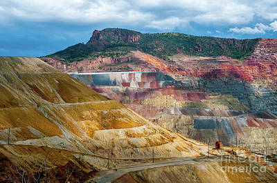 Photograph - Santa Rita Mine by Steve Whalen