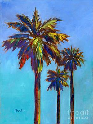 Tye Dye Painting - Santa Rita Palm I by Paul Brent