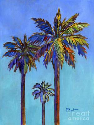 Tye Dye Painting - Santa Rita Palm II by Paul Brent