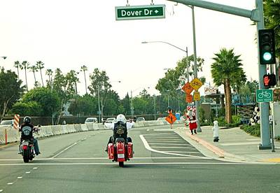 Photograph - Santa Roaming La Streets by Robert Meyers-Lussier