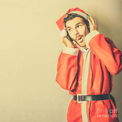 Photograph - Santa Rocking Around The Copyspace. Happy Holiday by Jorgo Photography - Wall Art Gallery