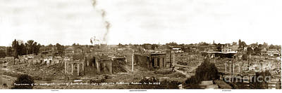 Photograph - Panorama Of Ruins  Of Santa Rosa After 1906 Eathquake by California Views Archives Mr Pat Hathaway Archives