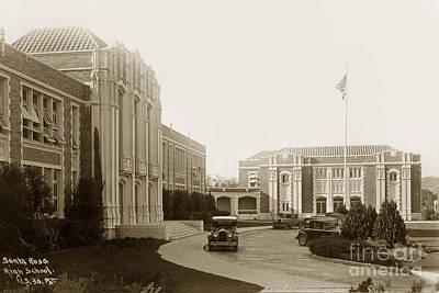 Photograph - Santa Rosa High School, Sonoma Country Club, Circa 1940 by California Views Mr Pat Hathaway Archives