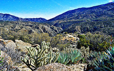 Digital Art - Santa Rosa Mountains by Glenn McCarthy Art and Photography