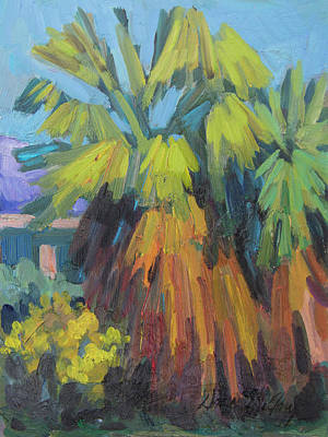 Painting - Santa Rosa Visitors Center Palms by Diane McClary