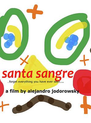 Sea Drawing - Santa Sangre Poster  by Paul Sutcliffe