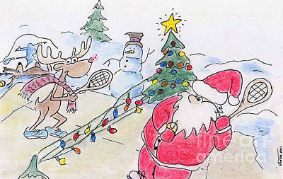 Pastel - Santa Slam by Vonda Lawson-Rosa